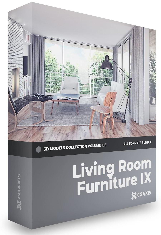 دانلود رایگان مدل سه بعدی فرنیچر CGAxis – Furniture 3D Models Collection – Volume 106