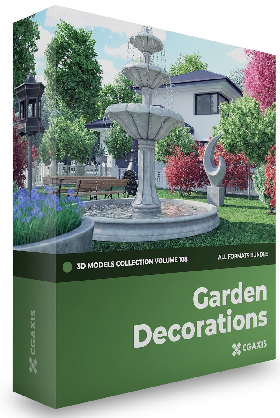 دانلود رایگان مدل سه بعدی تزئینی باغ CGAxis – Garden Decorations 3D Models Collection – Volume 108