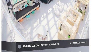 دانلود رایگان مدل سه بعدی غرفه فروشگاه CGAxis – Kiosks & Stalls 3D Models Collection – Volume 118