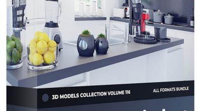 دانلود رایگان مدل سه بعدی لوازم آشپزخانه CGAxis Kitchen Appliances 3D Models Collection Volume 116