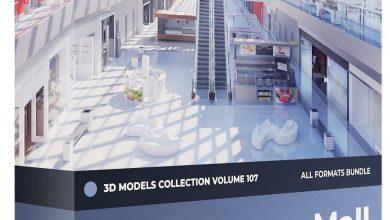 مدل سه بعدی: مال، فروشگاه، مارکت، بازار CGAxis – Mall Equipment 3D Models Collection – Volume 107
