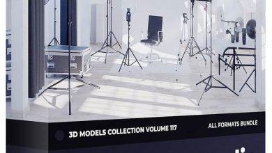 دانلود رایگان مدل سه بعدی لوازم عکاسی CGAxis Photo Equipment 3D Models Collection Volume 117