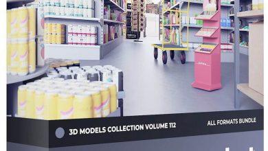 دانلود رایگان مدل سه بعدی سوپرمارکت CGAxis – Supermarket Equipment 3D Models Collection – Volume 112
