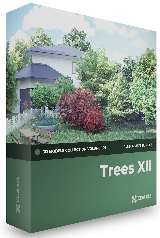 دانلود رایگان کالکشن مدل سه بعدی درخت CGAxis – Trees 3D Models Collection – Volume 109