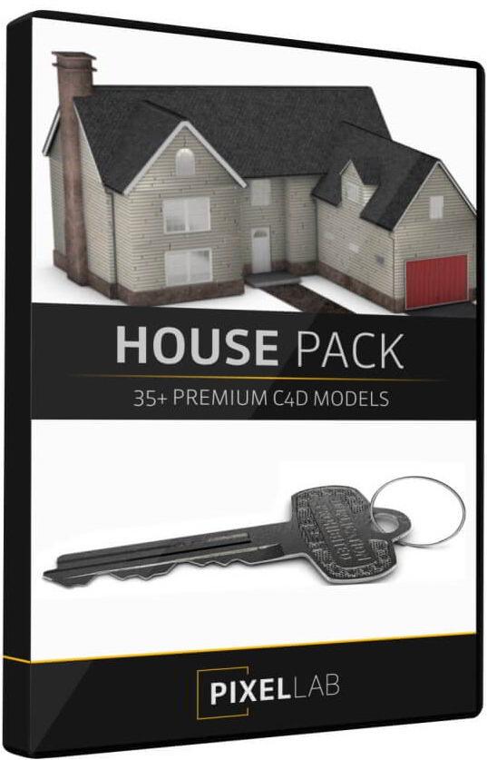 مدل سه بعدی عناصر معماری The Pixel Lab – Introducing the 3D House Pack