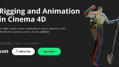 آموزش ریگ کاراکتر انیمیشن سینمافوردی Rigging and Animation in Cinema 4D