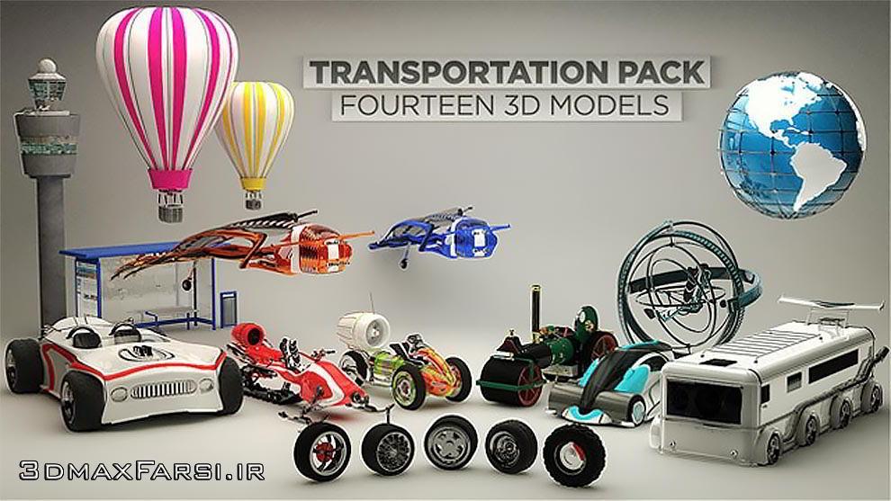 دانلود The Pixel Lab – Transportation Pack for Cinema 4D