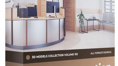 دانلود رایگان مدل سه بعدی مبلمان پذیریش Reception Furniture 3D Models Collection Volume 102