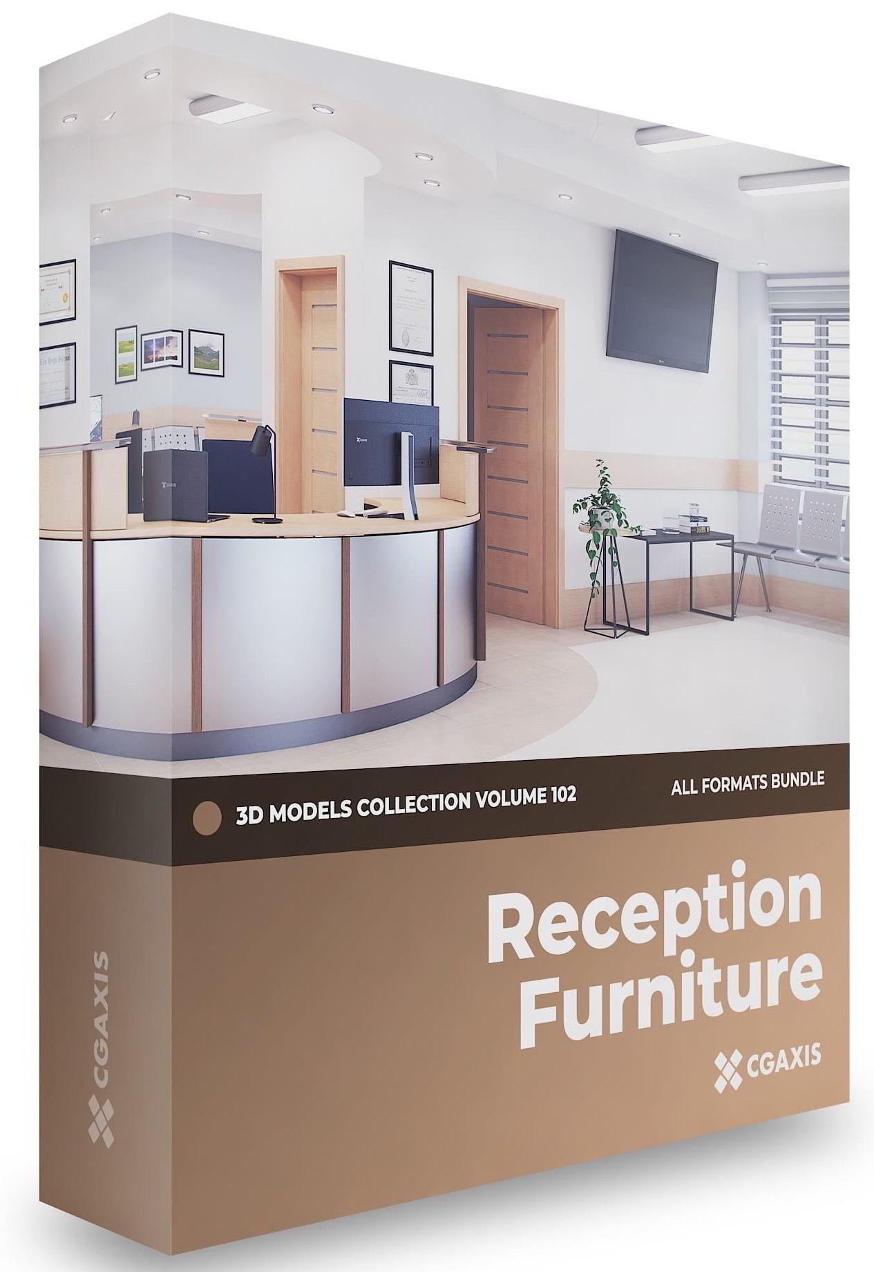 دانلود رایگان مدل سه بعدی مبلمان پذیرش Reception Furniture 3D Models Collection Volume 102