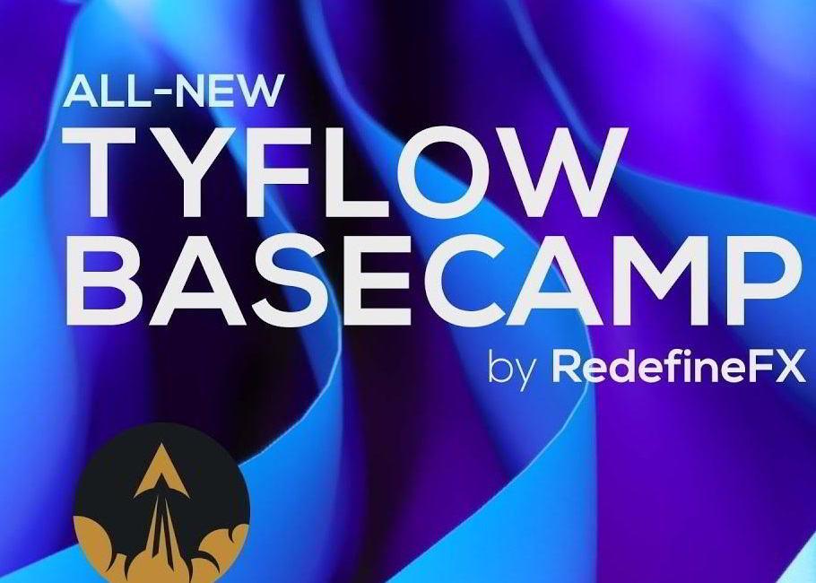 آموزش ابزار tyFlow در تری دی مکس از سایت RedefineFX