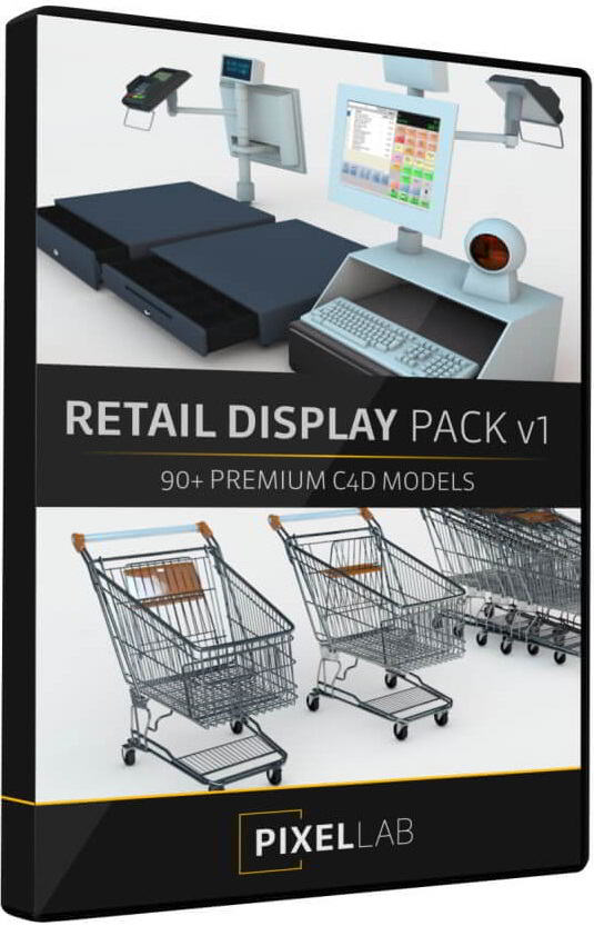 دانلود آبجکت سینمافوردی The Pixel Lab – Retail Display Pack V1 Launch