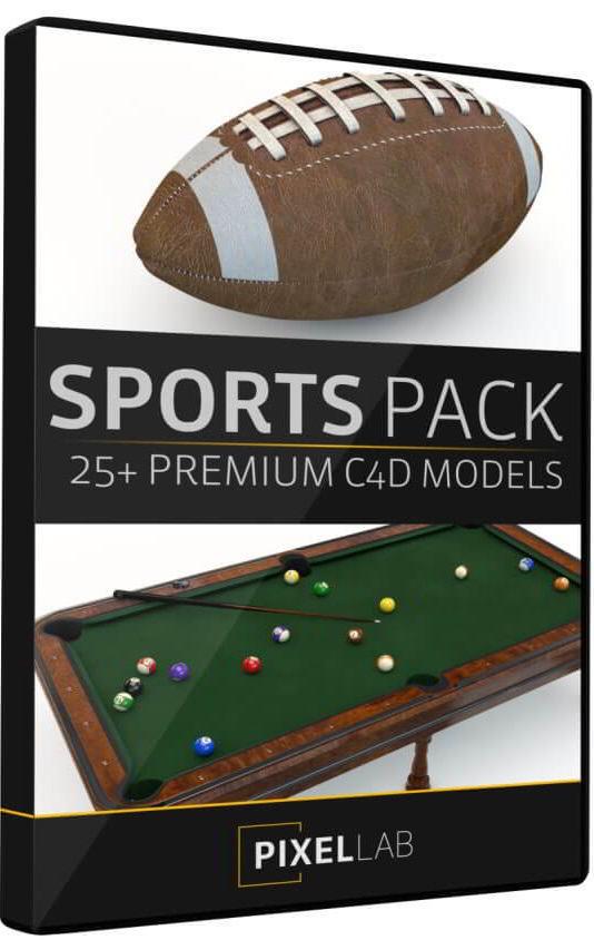 دانلود The Pixel Lab – Sports Pack: 30 C4D Models