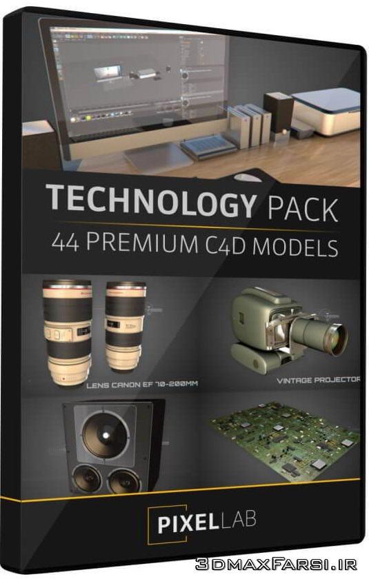 مدل سه بعدی لوازم الکترونیکی سینمافوردی The Pixel Lab – Tech Pack for Cinema 4D