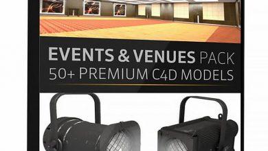دانلود The Pixel Lab – Events and Venues Pack: Over 50 C4D Models
