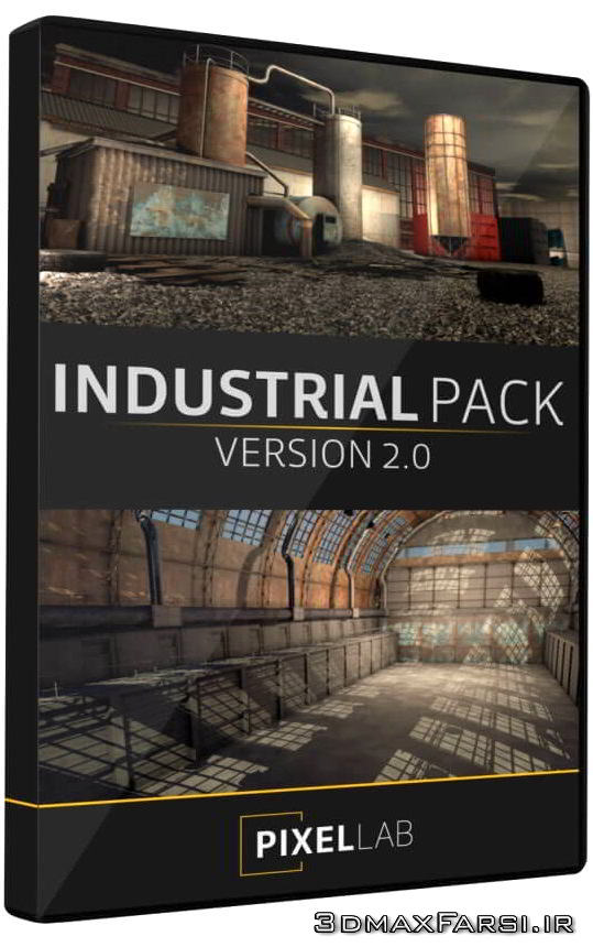 آبجکت های آماده به رندر سه بعدی صنعتی The Pixel Lab – Industrial Pack 2 for Cinema 4D