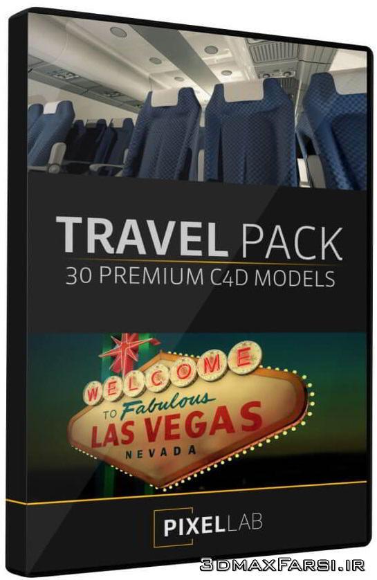 مدل سه بعدی مسافرت سینمافوردی The Pixel Lab – Travel Pack for Cinema 4D