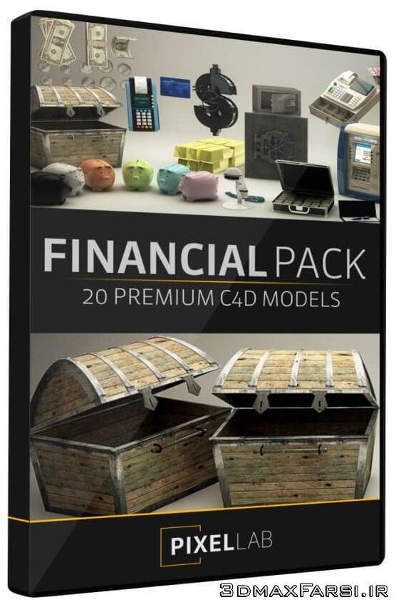 دانلود The Pixel Lab – Financial Pack for Cinema4D