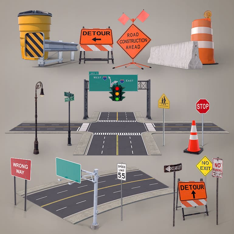 دانلود PixelSquid – Roads And Highways Collection