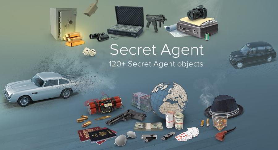 دانلود رایگان عکس گرافیکی پلیسی و مافیا PixelSquid – Secret Agent Collection