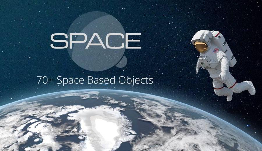 عکس گرافیکی فضانوردی و کره زمین PixelSquid – Space Collection