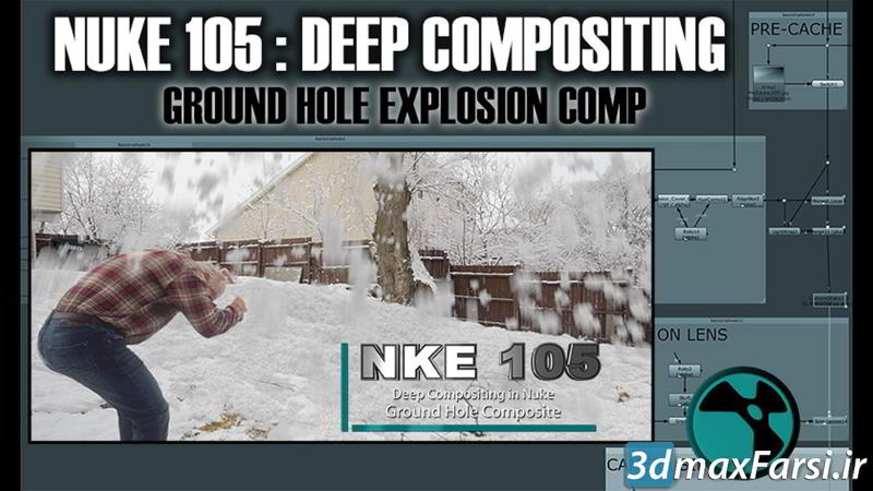 دانلود آموزش کامپوزیت نوک CGCircuit – NKE 105 – Deep Compositing in Nuke – Ground Hole Composite