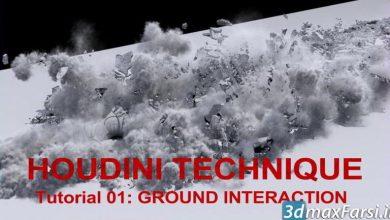 دانلود آموزش CGCircuit – Ground Breaking Interaction with character effect in Houdini