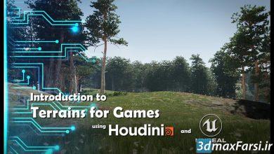 آموزش ساخت زمین هودینی آنریل انجین Intro to Terrains in Houdini and Unreal