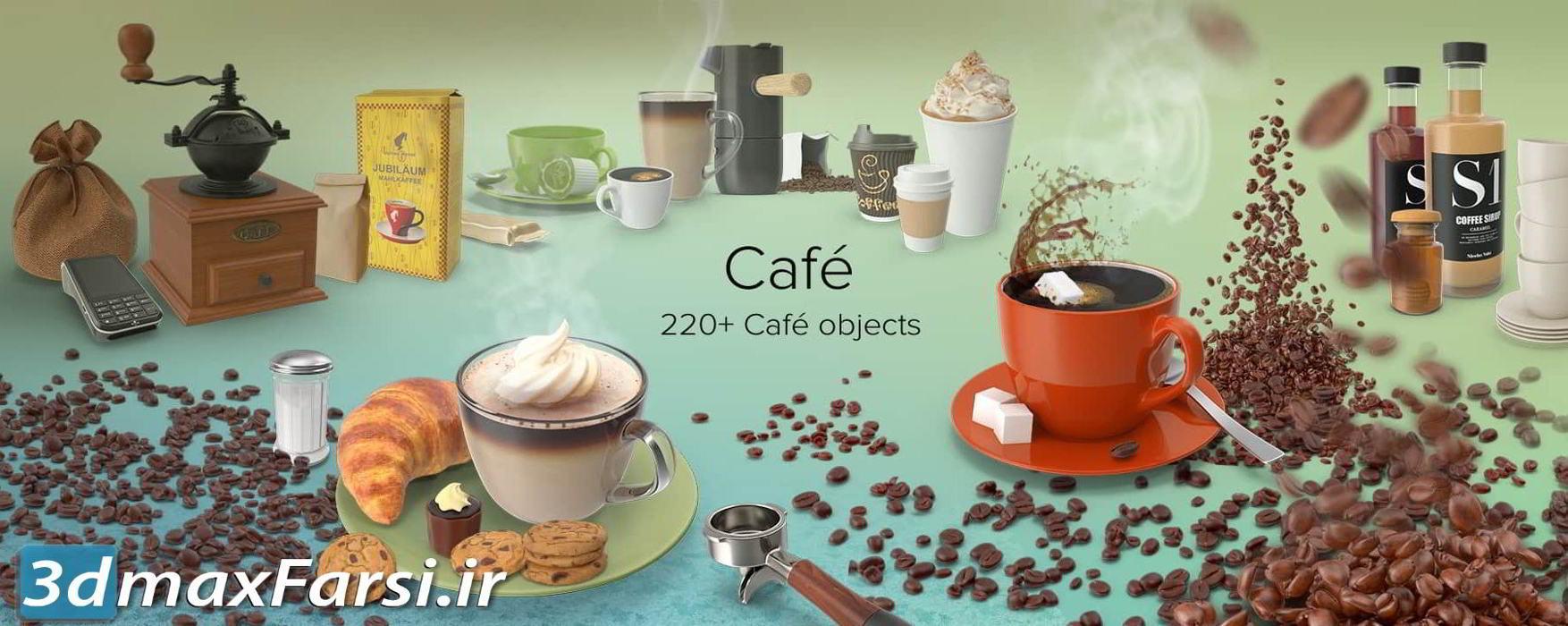 دانلود تصاویر گرافیکی کافی شاپ PixelSquid – Cafe Collection