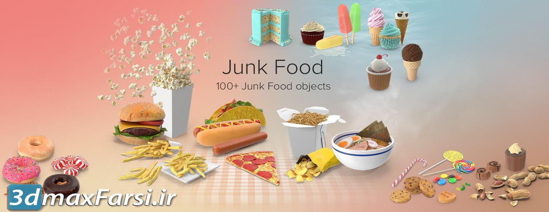 عکس گرافیکی غذا نوشیدنی خوراکی PixelSquid – Junk Food Collection