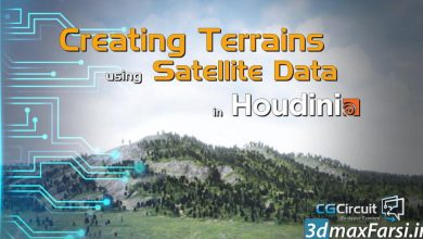 دانلود آموزش CGCircuit – Terrains using Satellite Data in Houdini