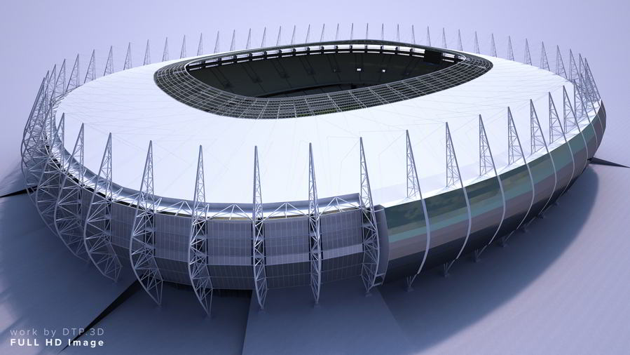 مدل سه بعدی استادیوم 3D-Models: TurboSquid – Soccer Stadium