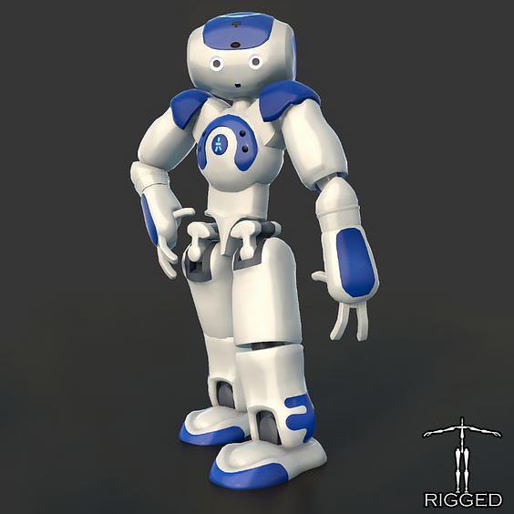 دانلود کاراکتر انسان ریگ شده روبات TurboSquid – HD Robot NAO Rigged