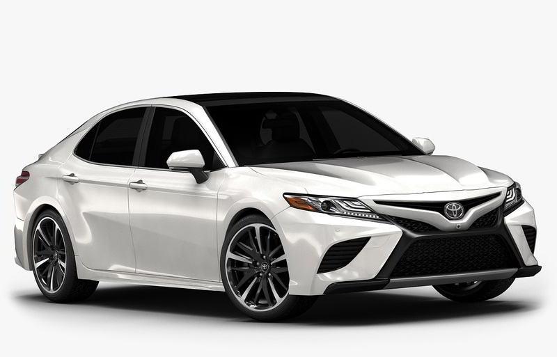 مدل سه بعدی ماشین TurboSquid - 2018 Toyota Camry (Low Interior)