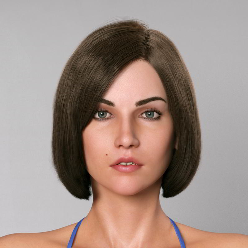 مدل سه بعدی کاراکتر انسان آلنا TurboSquid – Alena (Zelax3d)