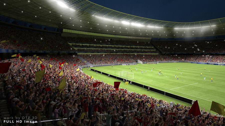 مدل سه بعدی استادیوم ورزشگاه 3D-Models: TurboSquid – Soccer Stadium