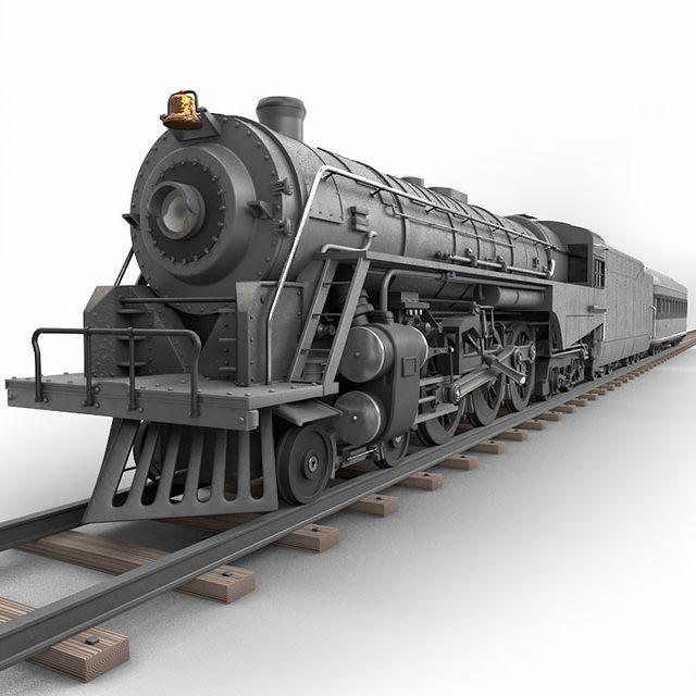 مدل سه بعدی قطار TurboSquid – Berkshire Steam Locomotive