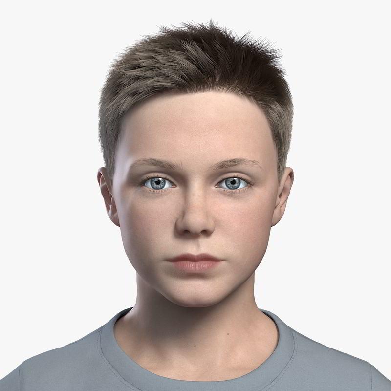 کاراکتر انسان پسر بچه Turbosquid – Boy child Rigged (Ben 2_ 3D model)