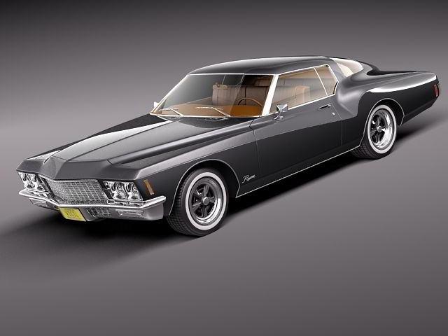 مدل سه بعدی ماشین بیوک TurboSquid – Buick Riviera GS Boattail 1971