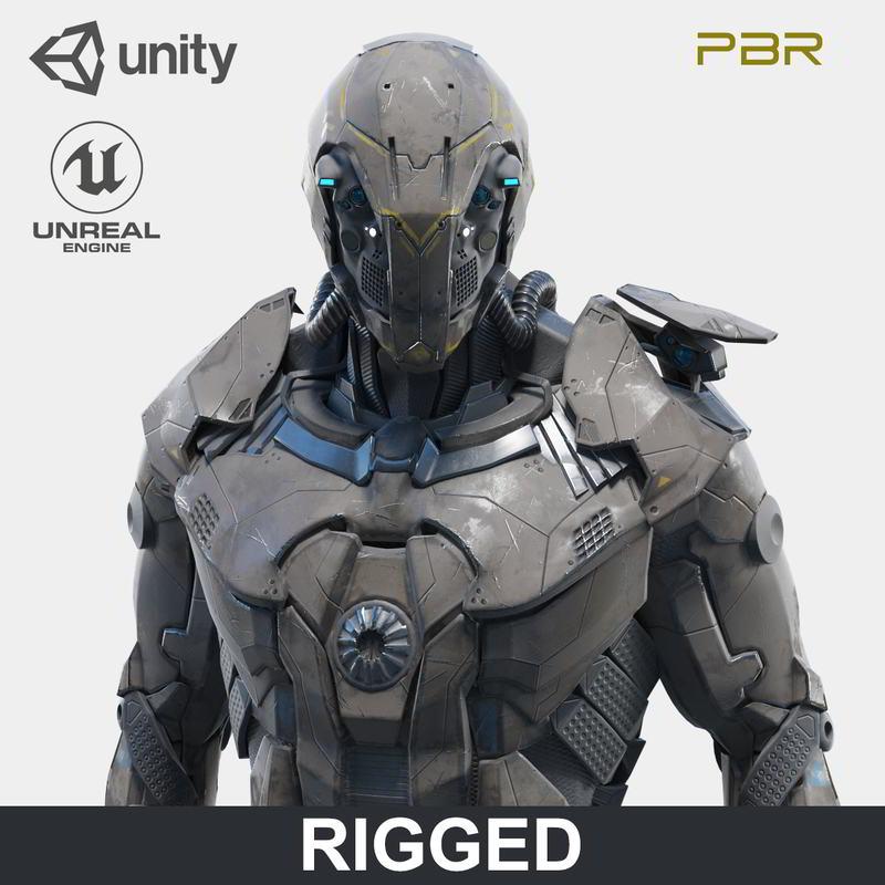 مدل سه بعدی کاراکتر روبات سرباز TurboSquid – Character Robot Soldier