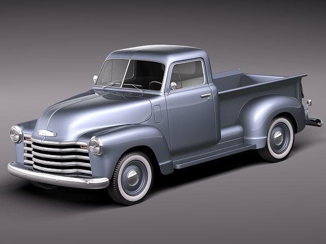 مدل سه بعدی ماشین شولت TurboSquid – Chevrolet Pickup 1950