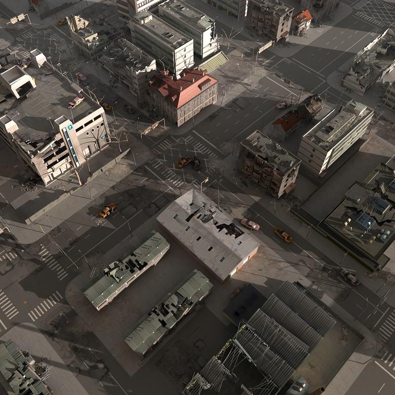 لوک های ساختمانی TurboSquid – Destroyed City Blocks