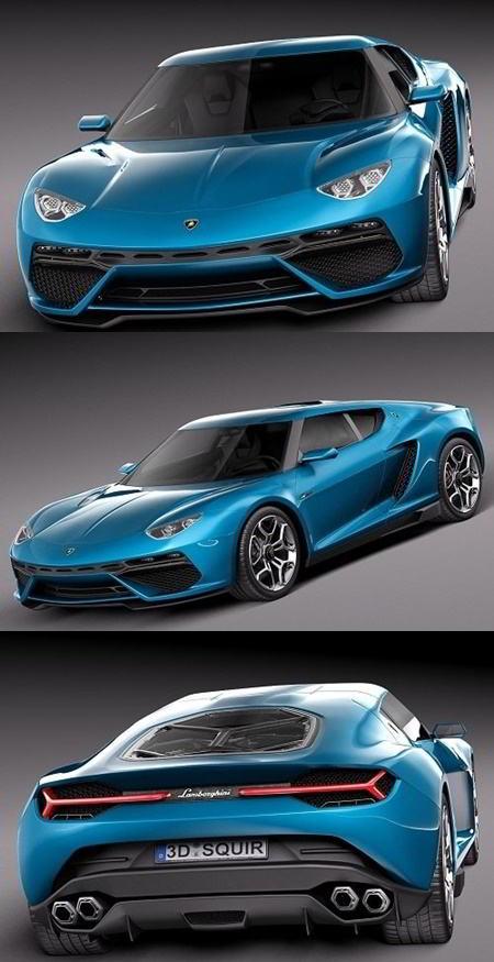 دانلود مدل سه بعدی ماشین TurboSquid – Lamborghini Asterion LPI 910-4 Concept 2014