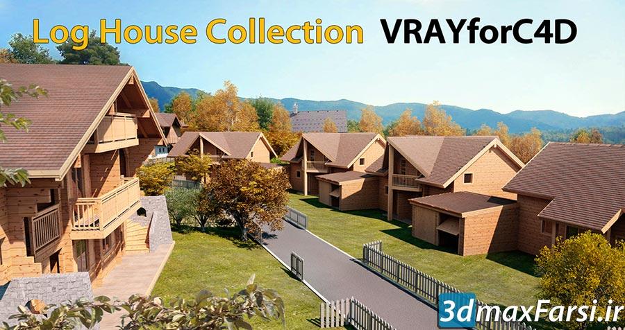 مدل سه بعدی ویلا TurboSquid – Log House – Chamonix