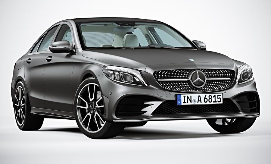مدل سه بعدی ماشین بنز TurboSquid – Mercedes-Benz C-Class 2019