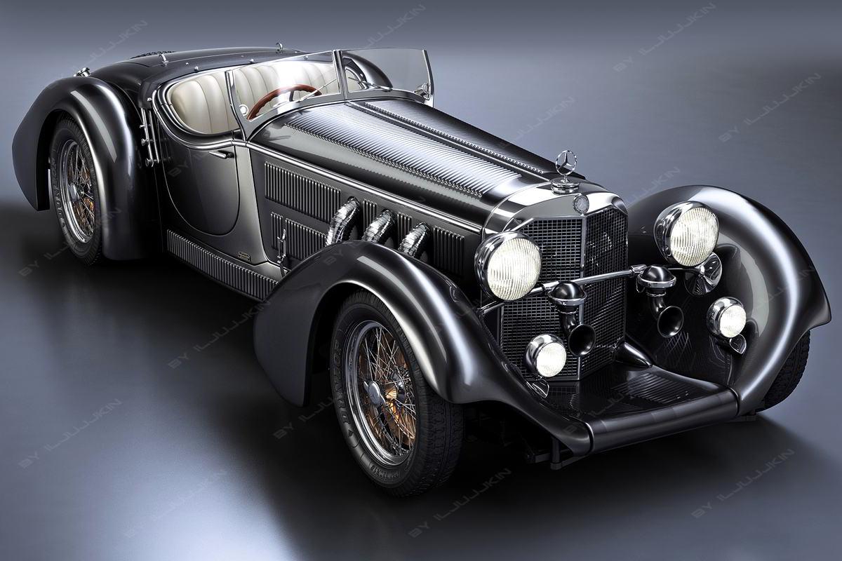 دانلود رایگان مدل سه بعدی ماشین TurboSquid – Mercedes-Benz SS Roadster