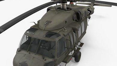 مدل سه بعدی هلیکوپتر TurboSquid – Sikorsky UH-60 Black Hawk US Military Utility Helicopter