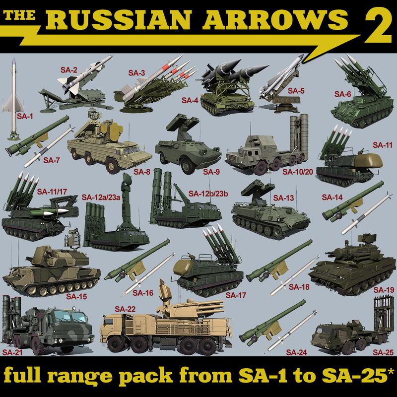 مدل سه بعدی تجهیزات جنگی TurboSquid – The Russian Arrows 2