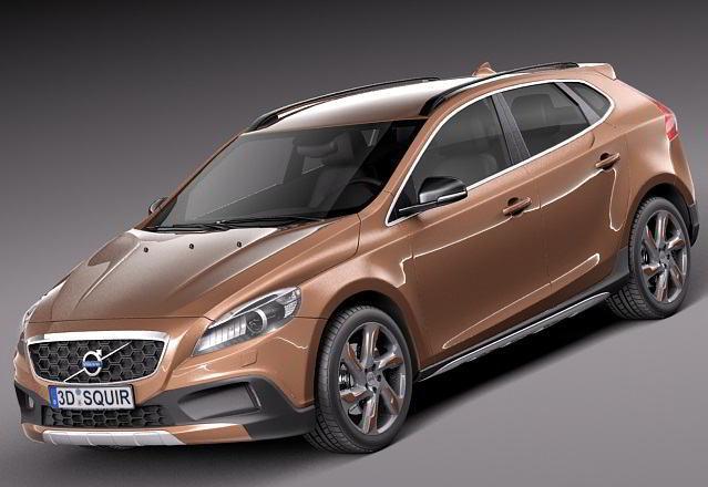 مدل سه بعدی ماشین ولوو TurboSquid - Volvo V40 Cross Country 2013