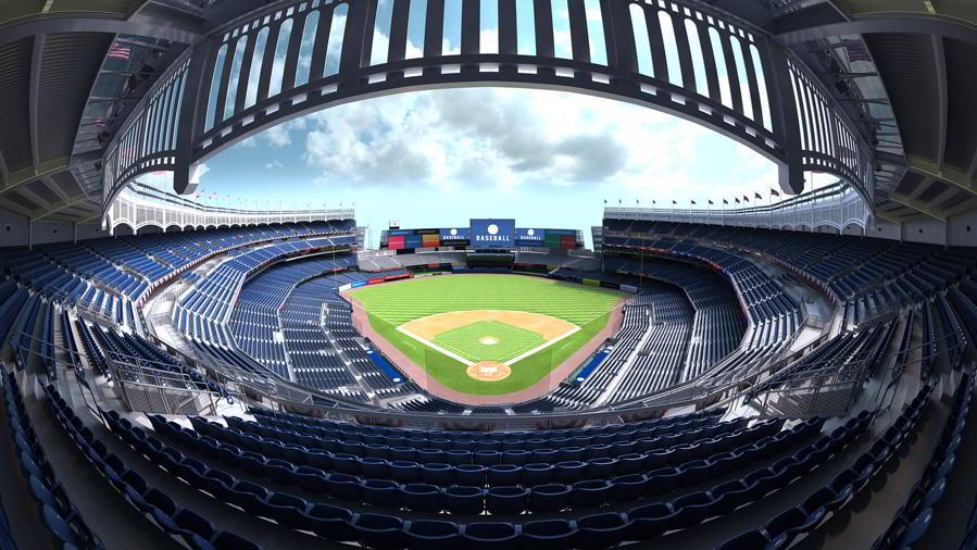 مدل سه بعدی استادیوم ورزشی TurboSquid – Yankee Stadium with Animated Audience