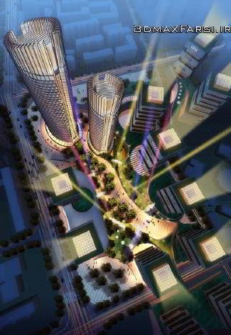 مدل سه بعدی Crystal CG - Architecture Landscape Garden